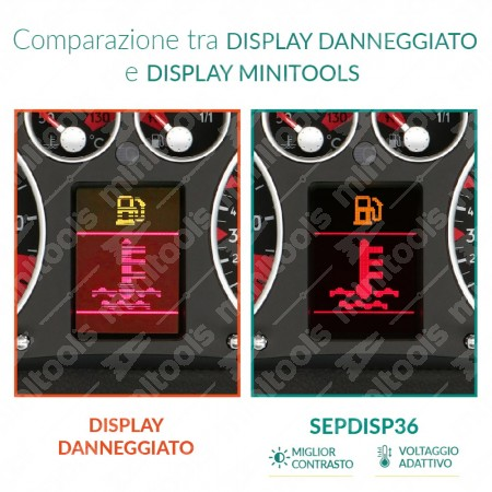 Confronto tra display originali Jaeger/Magneti Marelli e VDO e display minitools