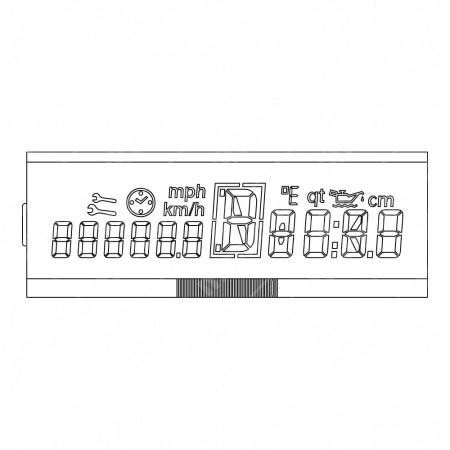 Schema display LCD per contachilometri Mercedes Vito, Classe V E638, Sprinter