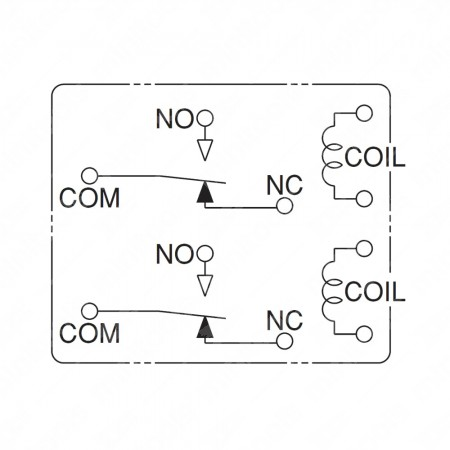 Schema tecnico relè ACT512-12V
