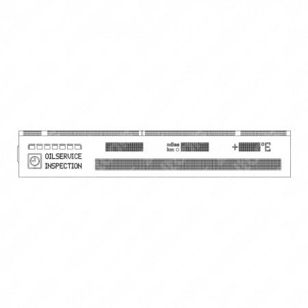 Schema tecnico display LCD con flat per contachilometri BMW Serie 5, Serie 7 e X5