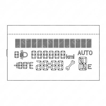 Display LCD per Fiat Punto, Grande Punto, Fiorino, Doblò e Qubo, con cambio automatico