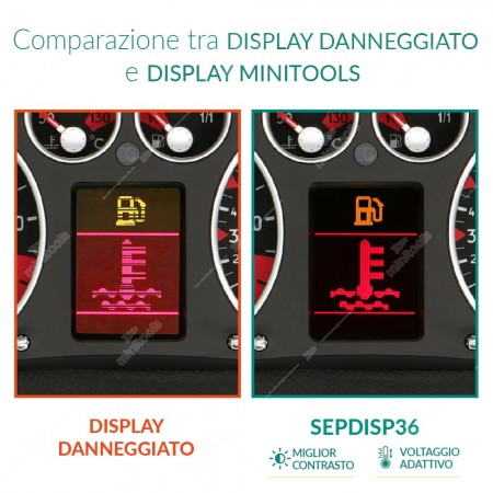 Confronto tra display originali Jaeger/Magneti Marelli e VDO e display minitools