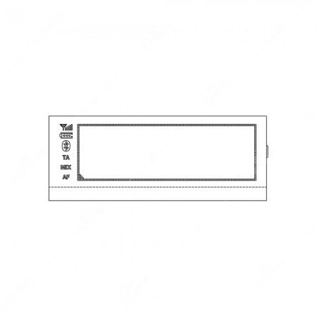 Schema display LCD per autoradio Dacia Dokker, Duster, Logan, Lodgy, Sandero; Lada Xray; Nissan Dualis, Frontier, Juke, March, Micra, Navara, Note, NV200, Pathfinder, Pulsar, Qashqai, Sentra B17, Sylphy B17, Terrano, Tiida, Versa, X-Trail T31; Renault Cap