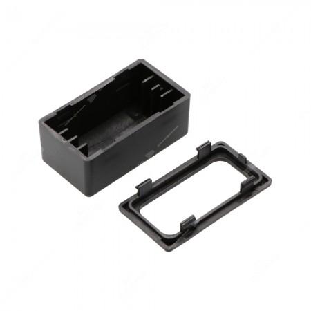 Contenitore componibile per componenti elettronici in ABS V0, vista lato superiore