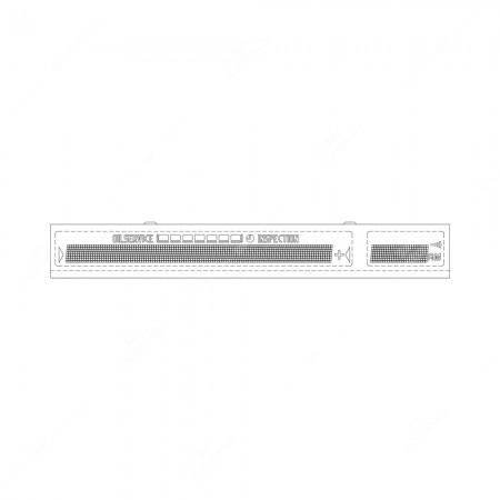 Schema tecnico display percomputer di bordo BMW E31, E34, E36