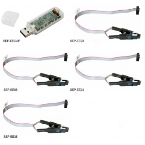 Programmatore USB EECLIP + KIT cavi EE93/EE95/ EE35/EE24