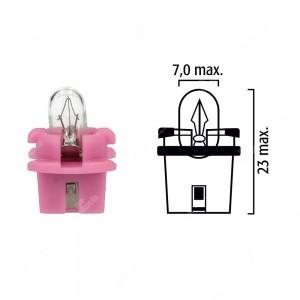 Schema lampadina per cruscotto B11d-T7 14V 1CP base rosa