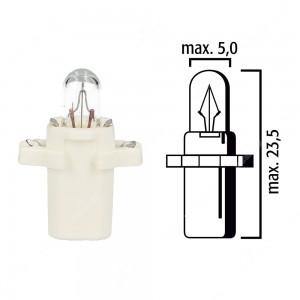Schema lampadina per cruscotto B8,3d BAX10s 12V base bianca