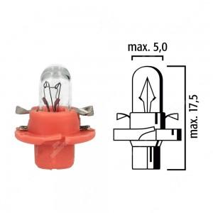 Schema lampadina per cruscotto B8,4d 12V base rosa