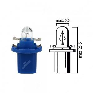 Schema lampadina per cruscotto B8,5d BAX10d 12V base blu