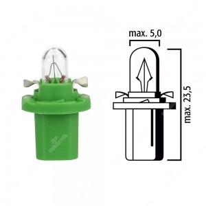 Schema lampadina per cruscotto B8,5d BAX10d 12V base verde