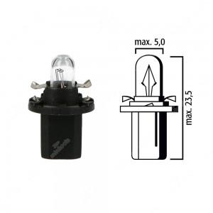 Schema lampadina per cruscotto B8,5d 24V base nera