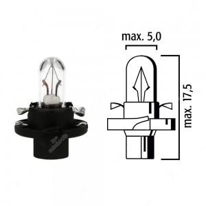 Schema lampadina per cruscotto BX8,4d 12V base nera