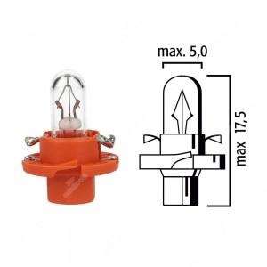 Schema lampadina per cruscotto BX8,4d 12V base arancione