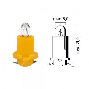Schema lampadina per cruscotto EBS-R11 24V base gialla
