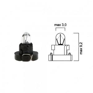 Lampadina per cruscotto 12V 0,5W, con base nera - Confezione da 5 pz