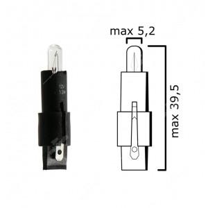 Schema lampadina SG8-5,5d 12V 1,2W per automotive