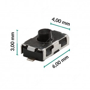 Micropulsante 6x4x3mm - Confezione da 10 pz (normalmente chiuso)