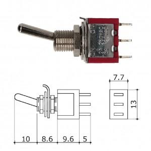 Interruttore/Deviatore a levetta (13x7,7mm)