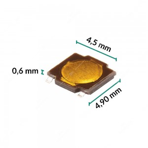 Micropulsante 4,9x4,5x0,6mm - Confezione da 10 pz (normalmente aperto)