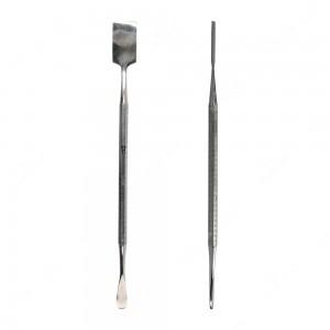 Spudger con punta corta, spessa e arrotondata e con punta larga e squadrata