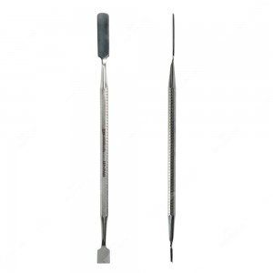 Spudger con punta lunga, piatta e arrotondata e con punta raschietto