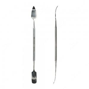 Spudger con punta lunga, curva e triangolare e con punta lunga, curva e arrotondata