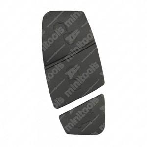 Gommini neri per chiavi Fiat e Lancia (30,65 + 13mm)
