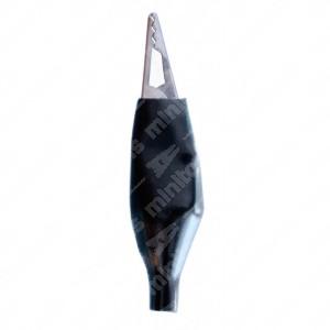 Pinzette coccodrillo isolate colore Nero - Conf. da 50 pz.