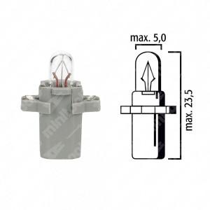 Schema lampadina per cruscotto B8,3d BAX10s 24V base grigia