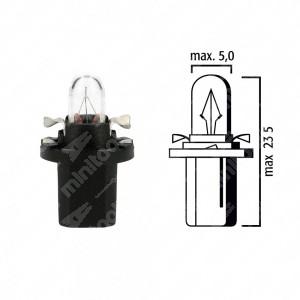 Schema lampadina per cruscotto B8,5d 12V base nera