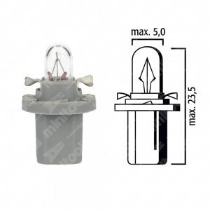 Schema lampadina per cruscotto B8,5d BAX10d 24V base grigia