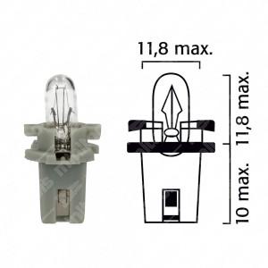 Schema lampadina per cruscotto BX8,7d 12V base grigia