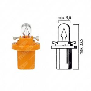 Schema lampadina per cruscotto BX8,5d 12V base gialla