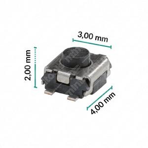 Micropulsante 3x4x2mm - Confezione da 10 pz (normalmente aperto)