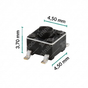 Micropulsante 4,5x4,5x3,7mm - Confezione da 10 pz (normalmente aperto)