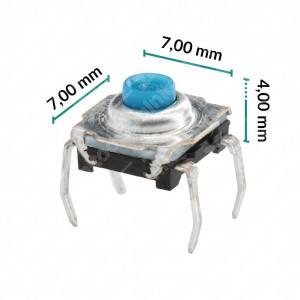 Micropulsante 7x7x4mm - Confezione da 10 pz (normalmente aperto)