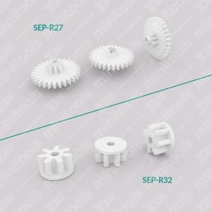 Kit 2 ingranaggi SEP-R27 e SEP-R32 per motorini contachilometri Audi / Mercedes / Nissan / Opel / Rover / Seat / Skoda / Volkswagen