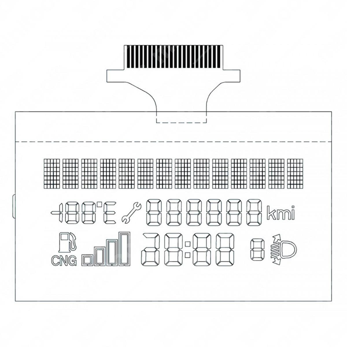 LCD display for Fiat Punto / Grande Punto / Fiorino / Doblò / Qubo -  Natural power version