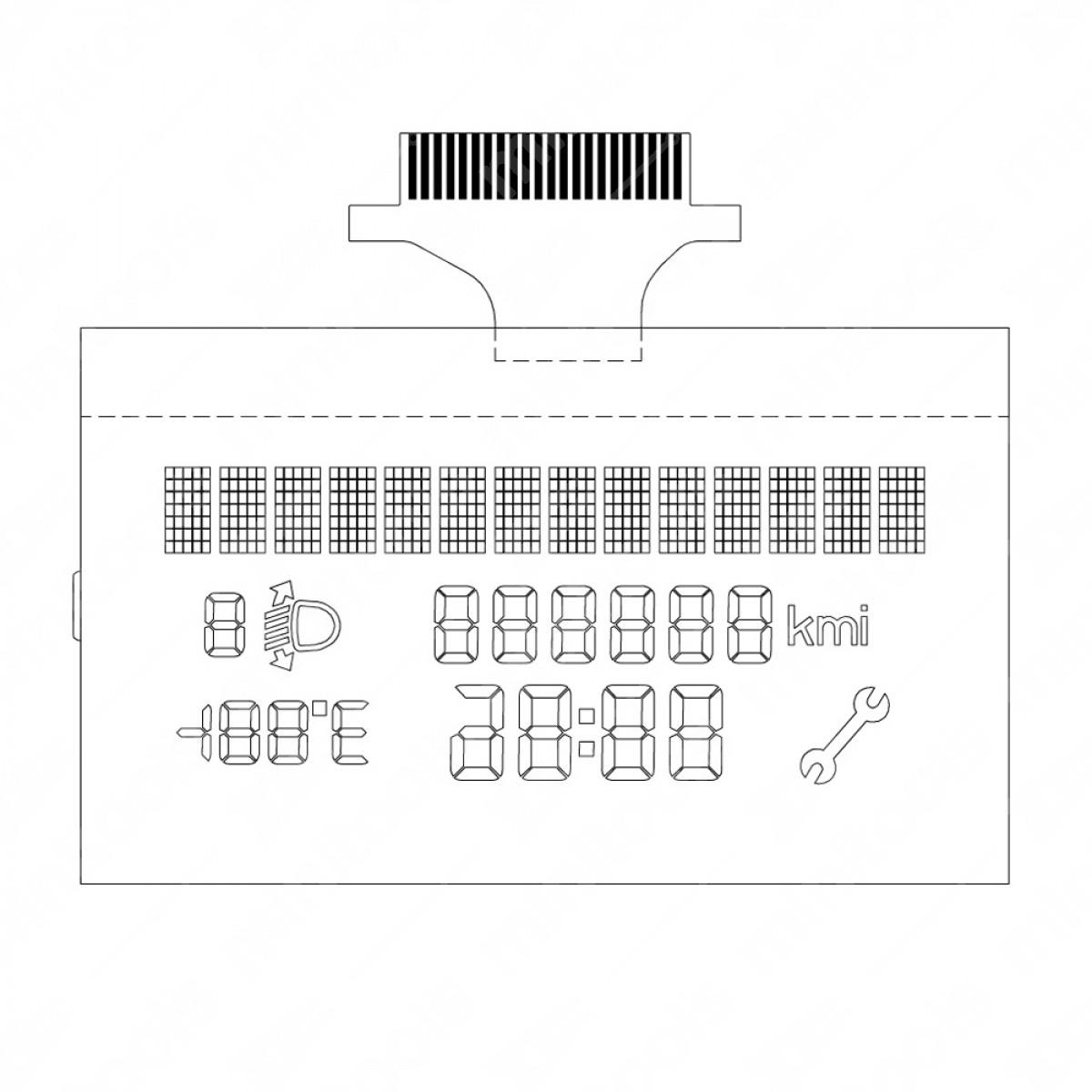 LCD display for Fiat Punto / Grande Punto / Fiorino / Doblò / Qubo