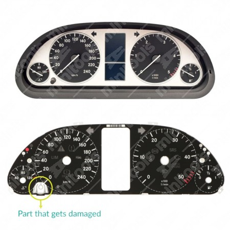 Reset button support for Mercedes A and B Class dashboards