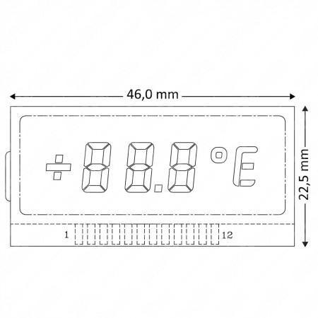 Mercedes W202 / W210 / W208 / R170 left side display (external temperature)