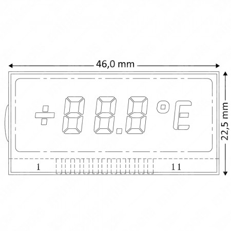 Mercedes W202 / W210 / W208 / R170 LCD display (external temperature) positioned on the left
