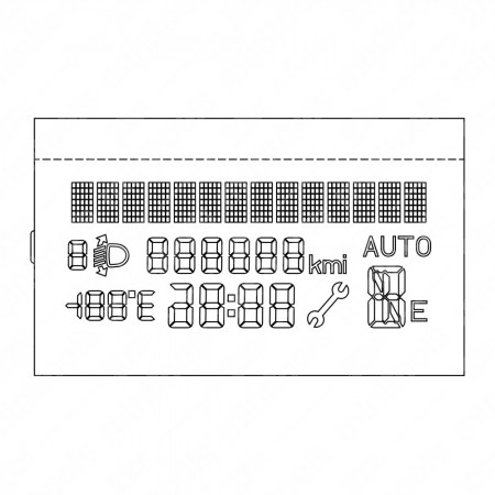 LCD display for Fiat Punto / Grande Punto / Fiorino / Doblò / Qubo