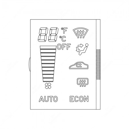 Technical schema for Saab 9.3 ACC heater control display