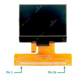 LCD display for  Audi A2, A3, A4, A6, Volkswagen Golf IV, Passat, Bora, Sharan, T4, Ford Galaxy and Seat Alhambra