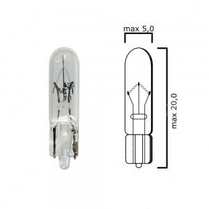Confezione lampadine per cruscotto base in vetro W2x4,6d 24V 1,2W T5