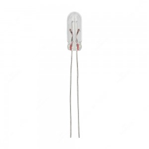 Wire base miniature incandescent light bulbs, T1 1/4 40mA 12V - Pack of 5 pcs