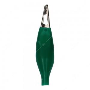 0 Pinzette coccodrillo isolate colore Verde - Conf. da 50 pz.