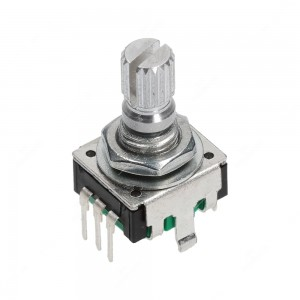 Incremental rotary encoder, 24 ppr, with push switch